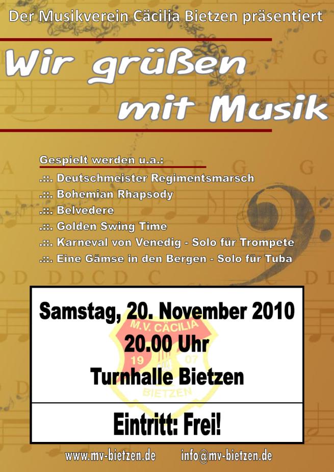 Plakat Konzert 2010