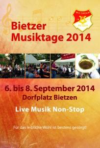 Flyer Bietzer Musiktage 2014 Vorne